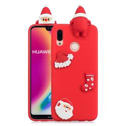 Red Santa Claus Christmas Xmax Soft 3D Silicone Case for Huawei P20 Lite