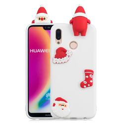 White Santa Claus Christmas Xmax Soft 3D Silicone Case for Huawei P20 Lite