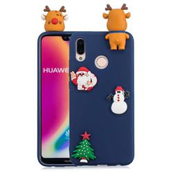 Navy Elk Christmas Xmax Soft 3D Silicone Case for Huawei P20 Lite
