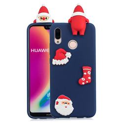 Navy Santa Claus Christmas Xmax Soft 3D Silicone Case for Huawei P20 Lite