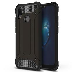 King Kong Armor Premium Shockproof Dual Layer Rugged Hard Cover for Huawei P20 Lite - Black Gold