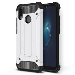 King Kong Armor Premium Shockproof Dual Layer Rugged Hard Cover for Huawei P20 Lite - White