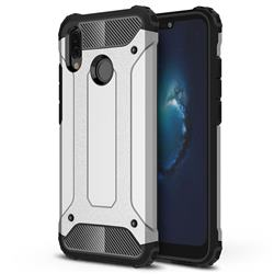 King Kong Armor Premium Shockproof Dual Layer Rugged Hard Cover for Huawei P20 Lite - Technology Silver