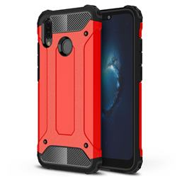 King Kong Armor Premium Shockproof Dual Layer Rugged Hard Cover for Huawei P20 Lite - Big Red