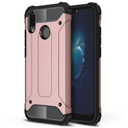 King Kong Armor Premium Shockproof Dual Layer Rugged Hard Cover for Huawei P20 Lite - Rose Gold