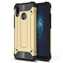 King Kong Armor Premium Shockproof Dual Layer Rugged Hard Cover for Huawei P20 Lite - Champagne Gold
