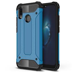 King Kong Armor Premium Shockproof Dual Layer Rugged Hard Cover for Huawei P20 Lite - Sky Blue