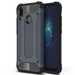 King Kong Armor Premium Shockproof Dual Layer Rugged Hard Cover for Huawei P20 Lite - Navy