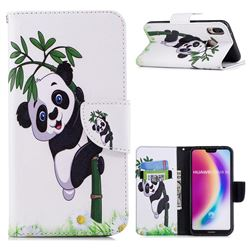 Bamboo Panda Leather Wallet Case for Huawei P20 Lite