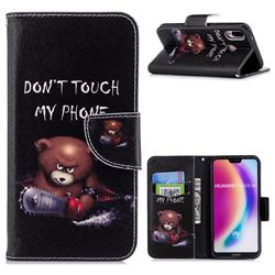 Chainsaw Bear Leather Wallet Case for Huawei P20 Lite