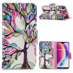 The Tree of Life Leather Wallet Case for Huawei P20 Lite