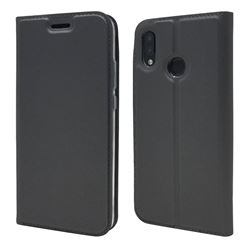 Ultra Slim Card Magnetic Automatic Suction Leather Wallet Case for Huawei P20 Lite - Star Grey
