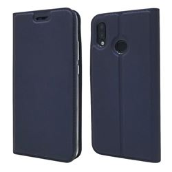 Ultra Slim Card Magnetic Automatic Suction Leather Wallet Case for Huawei P20 Lite - Royal Blue