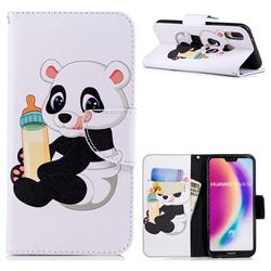 Baby Panda Leather Wallet Case for Huawei P20 Lite