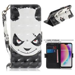 Angry Bear 3D Painted Leather Wallet Phone Case for Huawei P20 Lite
