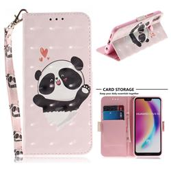 Heart Cat 3D Painted Leather Wallet Phone Case for Huawei P20 Lite