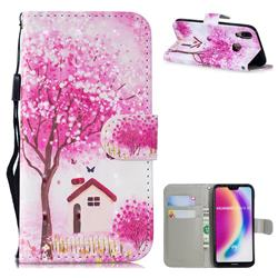 Tree House 3D Painted Leather Wallet Phone Case for Huawei P20 Lite