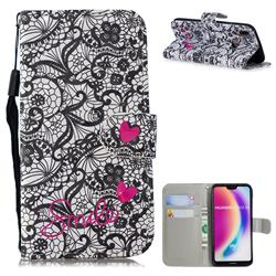 Lace Flower 3D Painted Leather Wallet Phone Case for Huawei P20 Lite