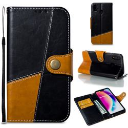 Retro Magnetic Stitching Wallet Flip Cover for Huawei P20 Lite - Black