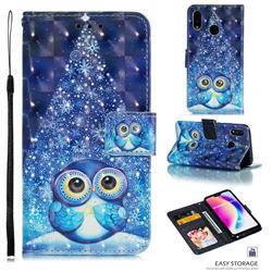 Stage Owl 3D Painted Leather Phone Wallet Case for Huawei P20 Lite