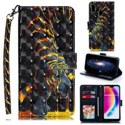 Tiger Totem 3D Painted Leather Phone Wallet Case for Huawei P20 Lite