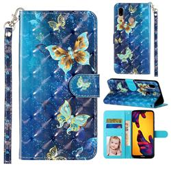 Rankine Butterfly 3D Leather Phone Holster Wallet Case for Huawei P20 Lite