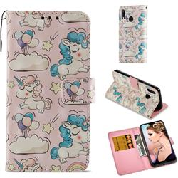 Angel Pony 3D Painted Leather Wallet Case for Huawei P20 Lite