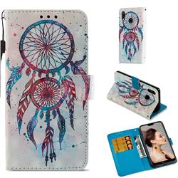 ColorDrops Wind Chimes 3D Painted Leather Wallet Case for Huawei P20 Lite