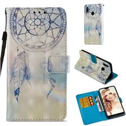 Fantasy Campanula 3D Painted Leather Wallet Case for Huawei P20 Lite