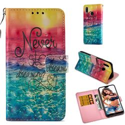 Colorful Dream Catcher 3D Painted Leather Wallet Case for Huawei P20 Lite