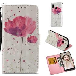 Watercolor 3D Painted Leather Wallet Case for Huawei P20 Lite