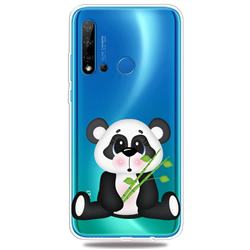Bamboo Panda Clear Varnish Soft Phone Back Cover for Huawei P20 Lite(2019)