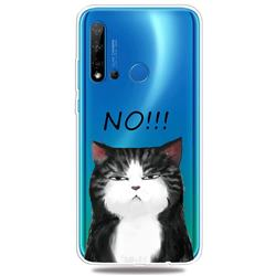 Cat Say No Clear Varnish Soft Phone Back Cover for Huawei P20 Lite(2019)