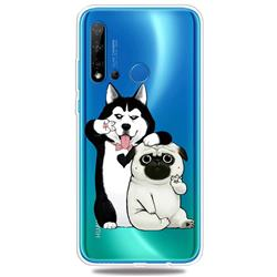 Selfie Dog Clear Varnish Soft Phone Back Cover for Huawei P20 Lite(2019)