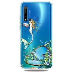 Mermaid Clear Varnish Soft Phone Back Cover for Huawei P20 Lite(2019)