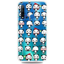 Mini Panda Clear Varnish Soft Phone Back Cover for Huawei P20 Lite(2019)