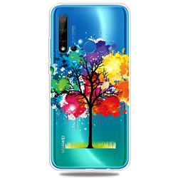 Oil Painting Tree Clear Varnish Soft Phone Back Cover for Huawei P20 Lite(2019)