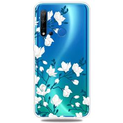 Magnolia Flower Clear Varnish Soft Phone Back Cover for Huawei P20 Lite(2019)