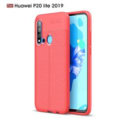 Luxury Auto Focus Litchi Texture Silicone TPU Back Cover for Huawei P20 Lite(2019) - Red