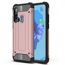 King Kong Armor Premium Shockproof Dual Layer Rugged Hard Cover for Huawei P20 Lite(2019) - Rose Gold