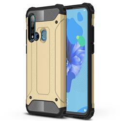 King Kong Armor Premium Shockproof Dual Layer Rugged Hard Cover for Huawei P20 Lite(2019) - Champagne Gold