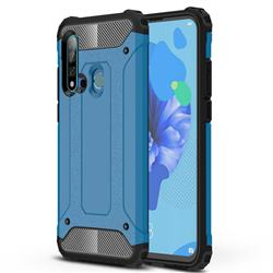 King Kong Armor Premium Shockproof Dual Layer Rugged Hard Cover for Huawei P20 Lite(2019) - Sky Blue