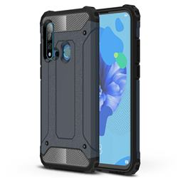 King Kong Armor Premium Shockproof Dual Layer Rugged Hard Cover for Huawei P20 Lite(2019) - Navy