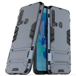 Armor Premium Tactical Grip Kickstand Shockproof Dual Layer Rugged Hard Cover for Huawei P20 Lite(2019) - Navy