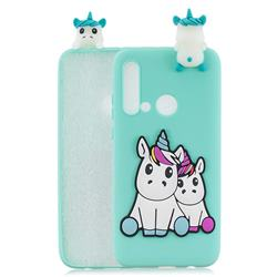 Couple Unicorn Soft 3D Climbing Doll Soft Case for Huawei P20 Lite(2019)