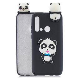 Blue Bow Panda Soft 3D Climbing Doll Soft Case for Huawei P20 Lite(2019)