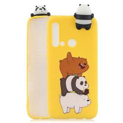 Striped Bear Soft 3D Climbing Doll Soft Case for Huawei P20 Lite(2019)
