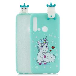 Heart Unicorn Soft 3D Climbing Doll Soft Case for Huawei P20 Lite(2019)