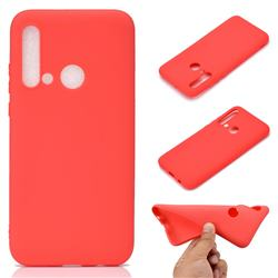 Candy Soft TPU Back Cover for Huawei P20 Lite(2019) - Red