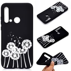 Dandelion Chalk Drawing Matte Black TPU Phone Cover for Huawei P20 Lite(2019)